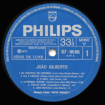 ジャズのモノラル盤JOAO GILBERTO